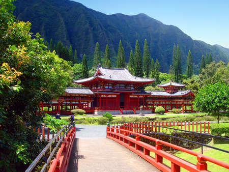 Byodo-in Buddhist Temple, Oahu, Hawaii Stock Photo - 4736355