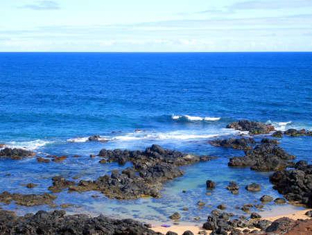 Rocky Coastline along the Road to Hana, Maui, Hawaii photo