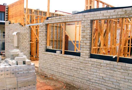 Residential Building Construction Site Stock fotó