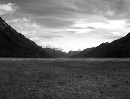 Eglinton Valley  on the road to Milford Sound, New Zealand