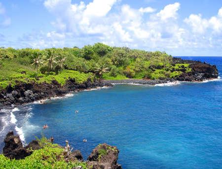 Black Sand Beach, Maui, Hawaii Stock fotó
