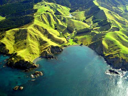 Coastline Luchtfoto Northland, Nieuw-Zeeland