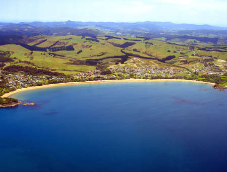 Aerial view of Coopers Beach, Northland, New Zealand Reklamní fotografie