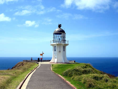 Cape Reinga Lighthouse, northern most tip of New Zealand photo