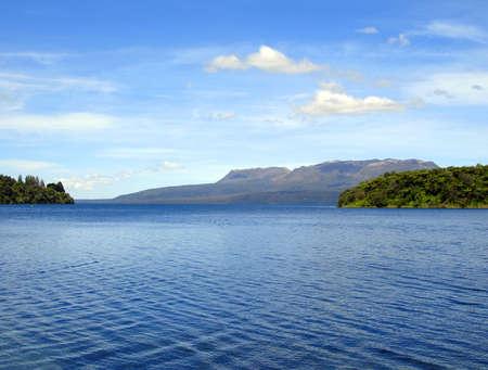 Ripples on Lake Tikitapu (Blue Lake), Rotorua, New Zealand