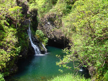 Waterfalls along the Road to Hana, Maui, Hawaii photo