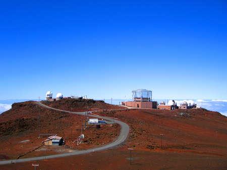 Ground-based Telescopes on the summit of Haleakala, Maui, Hawaii
