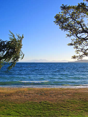 Lake Taupo in the early evening light, New Zealand