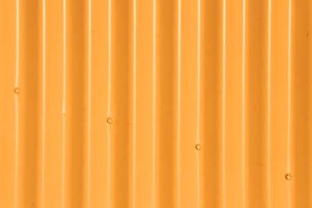 Background - Orange Corrugated Iron Fence with Four Diagonal Bolts