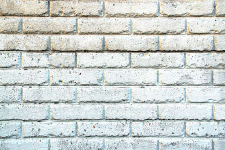 brick: Background - Aged White Painted Brick Wall
