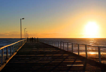 Sunset from Semaphore Jetty, Adelaide, Australia Stock Photo - 5921255