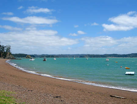 Beach front at Russell, Bay of Islands, New Zealand