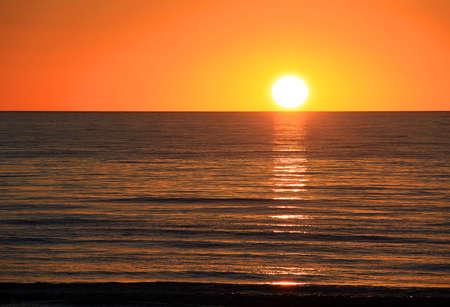 Sunset over Ocean.  Largs Bay, Adelaide, Australia photo