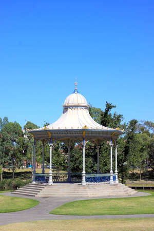 octagonal: Elder Park Rotunda along the River Torrens, Adelaide, Australia.  Heritage Victorian Architecture (1882)