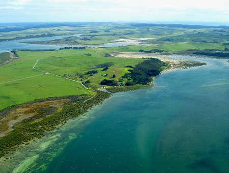 ノースランドの海岸線、ニュージーランドの空撮