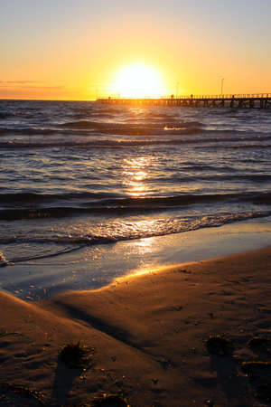 Sunset over Larg's Bay beach and Jetty, Adelaide, Australia Stock Photo - 6761967