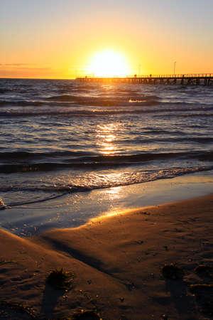 Sunset over Larg's Bay beach and Jetty, Adelaide, Australia Stock Photo - 6761967