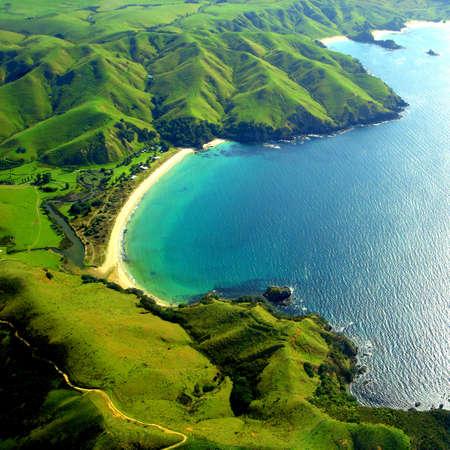 Taupo Bay, Nieuw-Zeeland  Stockfoto