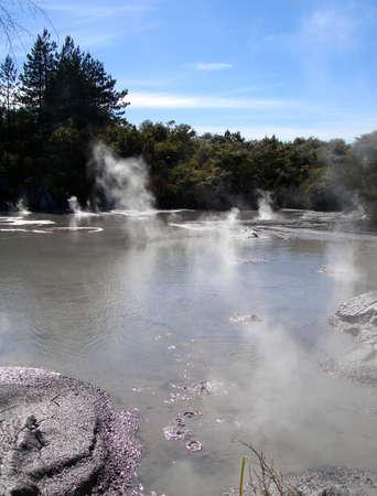 Geothermal Activity near Rotorua, New Zealand Stock fotó