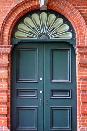 External Door in Decorative Brick Wall.  Adelaide, Australia photo