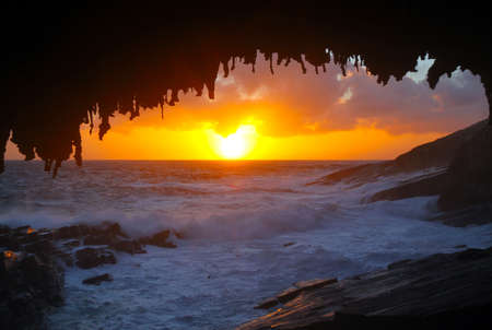 Sunset at Admirals Arch, Flinders Chase National Park, Kangaroo Island, South Australia