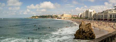 Scenery of Biarritz Main Beach, France