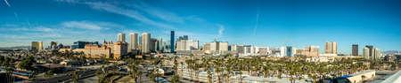Die Skyline von Las Vegas tagsüber aus der Ferne. Nevada USA