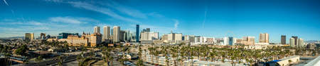 Las Vegas skyline from a distance during day time. Nevada USA 스톡 콘텐츠