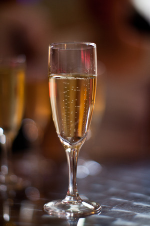 champagne glass: Glasses of champagne Stock Photo