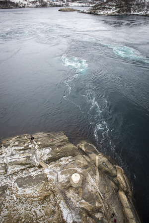whirlpools: Whirlpools of the maelstrom of Saltstraumen, Nordland, Norway