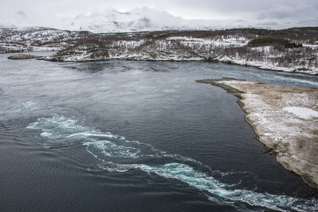 bod: Whirlpools of the maelstrom of Saltstraumen, Nordland, Norway