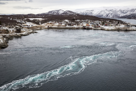 maelstrom: Whirlpools of the maelstrom of Saltstraumen, Nordland, Norway