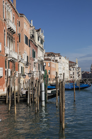 grand canal: View on the Grand Canal with gondolas, Venice Italy