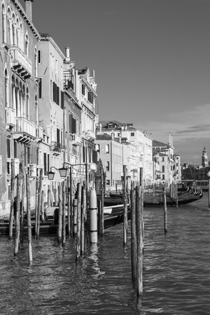 View on the Grand Canal with gondolas, Venice Italy photo