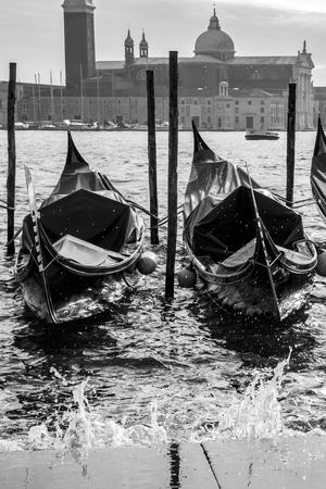 marco: Gondolas in front of San Marco square, Venice Italy Editorial