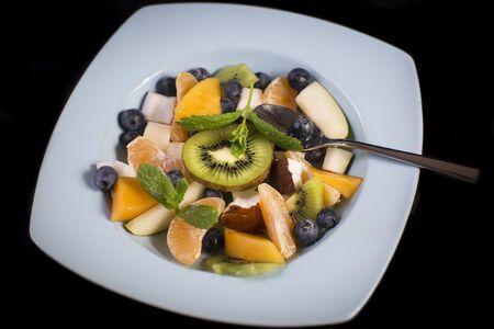 plato del buen comer: Delicioso sabrosa ensalada de frutas exoctic Foto de archivo