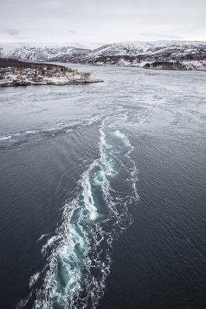 vortices: Whirlpools of the maelstrom of Saltstraumen, Nordland, Norway