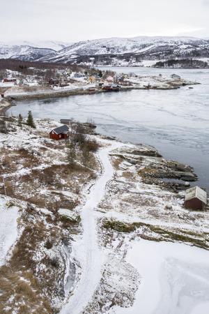 Whirlpools of the maelstrom of Saltstraumen, Nordland, Norway photo