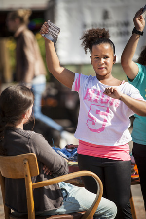 local festivals: Amsterdam, The Netherlands, 13 September 2014, at Westival, a free open air Cinema and culture festival on Mercatorplein. slow motion workshop for children