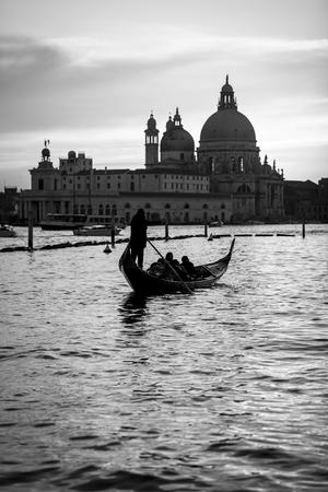 Romantic view of Punta della Dogana with Santa Maria della Salute Basilica, Venice -Italy photo