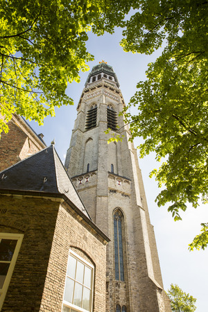 Abbey complex with its tower Lange Jan, Middelburg, Zeeland, Netherlands