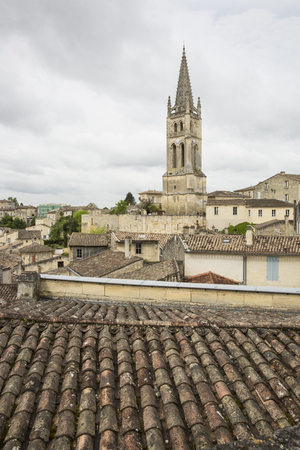 Aerial view of French medieval village Saint Emilion, France