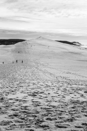 aquitaine: View from Dune of Pilat or Pyla - the largest sand dune in Europe, Aquitaine, France Stock Photo
