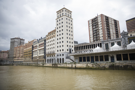 View of ria del Nervion de Bilbao, Spain
