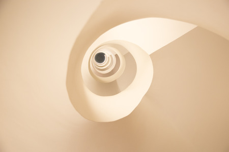 abstract pattern formed by a spiral staircase Stok Fotoğraf