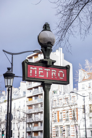 fraternity: Metro sign for subway transportation in Paris, France