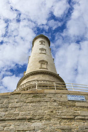 Close-up view of the renaissance historical lighthouse of Corduan, Gironde estuary, France Stock Photo