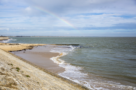 re: Coastal view, seaside with a rainbow at Ile de Re, France
