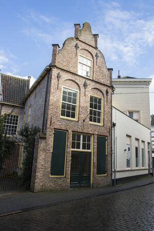 Old medieval Dutch gable house, Hertogenbosch or Den Bosch, the Netherlands