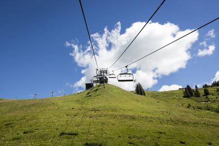 alpine landscape in summer, Alps mountain massif, Cantons Vaud and Valais, Swiss Alps, Switzerland